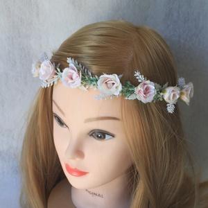Minimal virágkoszorú, hajdísz  (FlorallyArt) - Meska.hu