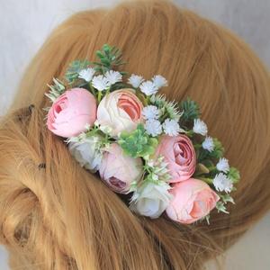 Virágos hajdísz, hajfésű alkalmakra  (FlorallyArt) - Meska.hu