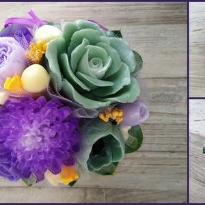 Szappan Csokor sárga textilbevonatos edényben , Esküvő, Otthon & lakás, Lakberendezés, Esküvői dekoráció, Dekoráció, Csokor, Virágkötés, Szappankészítés, Szappan virágcsokor. \nA szappan virágokat én készítem és kötöm csokorba a textilbevonatos edénybe.\nA..., Meska