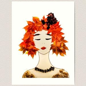 Flowerfaces virágkép- Menedék, Művészet, Művészi nyomat, Fotó, grafika, rajz, illusztráció, Gondolkodtatok már azon, hogy milyen érdekes, hogy őszülésnek hívjuk azt, ahogy a hajunk lassan elve..., Meska