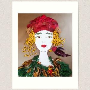 Flowerfaces virágkép- November, Művészet, Művészi nyomat, Fotó, grafika, rajz, illusztráció, Szeretem a madárberkenyét. Igazi őszi színekben pompázik. A képen megjelenik egy madár is, aki éppen..., Meska