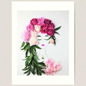 Flowerfaces virágkép- Tiszta Szépség, Művészet, Művészi nyomat, Fotó, grafika, rajz, illusztráció, A pünkösdi rózsa üde szépsége, csodás színeinek árnyalatai, a hatalmas virágfejek mind-mind idézik a..., Meska