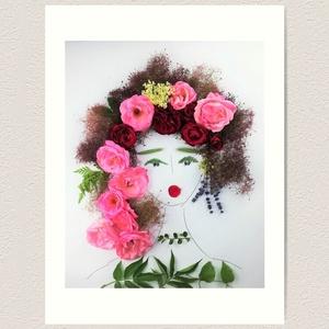 Flowerfaces virágkép- Odafordulás, Művészet, Művészi nyomat, Fotó, grafika, rajz, illusztráció, Szemében elfogadás és figyelem van. A megértés és a nyitottság árad belőle. Hihetetlen, hogy az a ki..., Meska