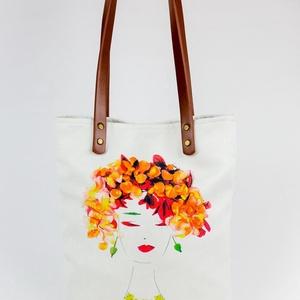 Női válltáska, táska, Ruha & Divat, Női ruha, Varrás, Fotó, grafika, rajz, illusztráció, Elkészült a legújabb Flowerfaces termékünk! Egy igazán nőies táskát ajánlunk neked. Strapabíró kever..., Meska