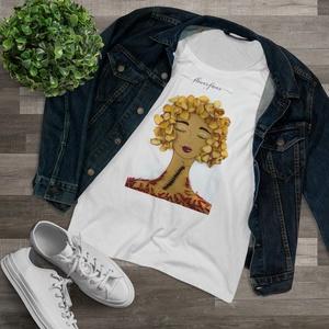 Női póló, női felső (Higgadtság), Ruha & Divat, Női ruha, Póló, felső, Fotó, grafika, rajz, illusztráció, Viseld a kedvenc Virág Lady-t magadon!\nA Flowerfaces kizárólag 100%-os, puha anyagú pamut pólókat ha..., Meska
