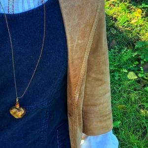 Talált fából szív nyaklánc, Ékszer, Nyaklánc, Medálos nyaklánc, Ékszerkészítés, Famegmunkálás, Meska