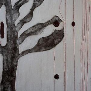 Magányos fa , Otthon & Lakás, Dekoráció, Kép & Falikép, Festett tárgyak, Tömör fára festett kép, 38x58 cm-es , Meska