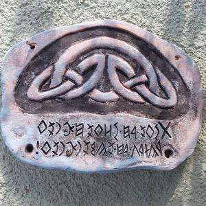 Kelta csomós rovásos üdvözlő tábla (Foenx) - Meska.hu