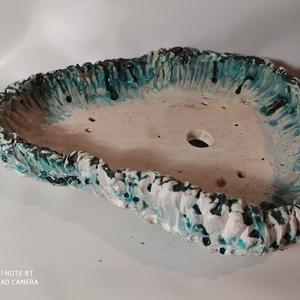 Kék-fehér kurama bonsai tál (Foenx) - Meska.hu