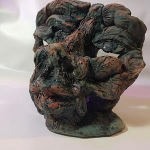 Groteszk fej szobor (Foenx) - Meska.hu
