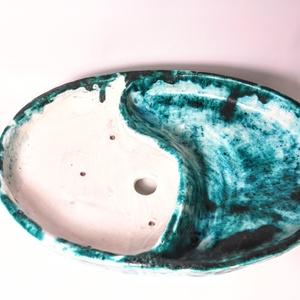 Osztott, mázas bonsai tál (Foenx) - Meska.hu