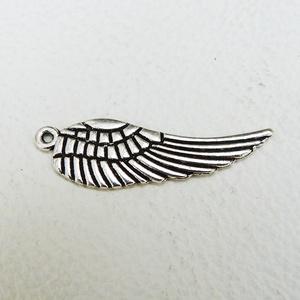 Angyal szárnyak - 10db - 30 mm, Gyöngy, ékszerkellék, Egyéb alkatrész, Fémmegmunkálás, ötvösség, Cink ötvözet angyal szárnyak antikolt ezüst színben. A minta kétoldalú :)\nAz ár 10, azaz 10 darabra ..., Meska