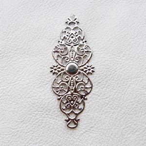 Rombusz alakzatok - 5db - 61mm ezüst, Gyöngy, ékszerkellék, Egyéb alkatrész, Fémmegmunkálás, ötvösség, Vas ötvözet rombuszok ezüst színben. Használható mint köztes, összekötő vagy veret. Ón és nikkelmen..., Alkotók boltja