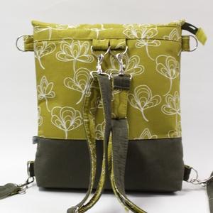 Ginko hátizsák-táska, Táska, Divat & Szépség, Táska, Hátizsák, Varrás, A táska két funkcióval rendelkezik. Hordhatod oldaltáskaként,vagy egy plusz pánttal akár a hátadra i..., Meska