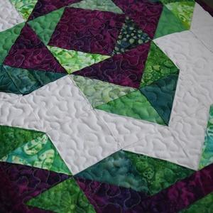 Lótuszvirág patchwork díszpárnahuzat (Foltkosar) - Meska.hu
