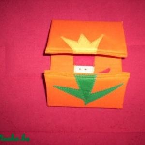 Tulipánból paprika - Narancssárga alapon!, Játék, Gyerek & játék, Húsvéti díszek, Ünnepi dekoráció, Dekoráció, Otthon & lakás, Plüssállat, rongyjáték, Patchwork, foltvarrás, Varrás,  Tulipánból paprika,paprikából Jancsika, Jancsikából kis király, kis királyból tulipán....\n\nAnyaga s..., Meska