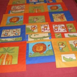 UTOLSÓ DARAB!!! Dzsungel játszószőnyeg narancssárga hátlappal -és szegéllyel (Foltonfolt) - Meska.hu
