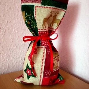 Beigli...Karácsonyi ajándék csomagolózsák , Otthon & Lakás, Karácsony & Mikulás, Karácsonyi csomagolás, Varrás, \n Ugye, környezettudatosan gondolkodsz?...és egész évben a karácsonyt várod?...\n Bútorvászonból varr..., Meska
