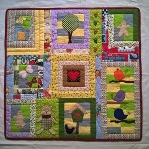 gyerek falikép, Gyerek & játék, Lakberendezés, Otthon & lakás, Gyerekszoba, Patchwork, foltvarrás, Varrás, Hagyományos patchwork és rávarrásos ( rávasalható közbéléssel megerősített ) technikával készítettem..., Meska