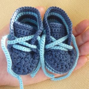 Baba cipő, Ruha & Divat, Babaruha & Gyerekruha, Babacipő, Horgolás, A horgolt baba cipőt a vevő igénye szerinti méretben, színben készítem el.\nA képen látható cipőcskén..., Meska