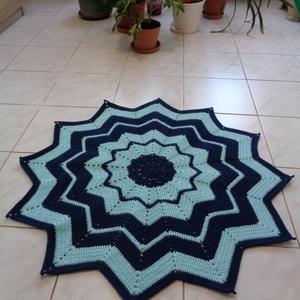 Csillag alakú horgolt szőnyeg - Meska.hu