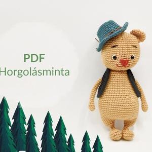 Horgolt mackó - MINTALERÁS magyarul, DIY (leírások), Szabásminta, útmutató, Kötés, horgolás, Alkotók boltja