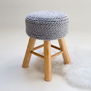 Horgolt ülőke, kisszék,, Otthon & lakás, Bútor, Szék, fotel, Lakberendezés, Horgolás, Ez 7 mm vastag zsinórfonallal körbehorgolt kisszék a lakás bármely pontján jól mutat. Használhatod a..., Meska