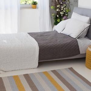 Színes csíkos, horgolt szőnyeg, Szőnyeg, Lakástextil, Otthon & Lakás, Horgolás, Egy kézzel készült, színes szőnyeg garantáltan feldobja bármely helyiség hangulatát. Különböző méret..., Meska