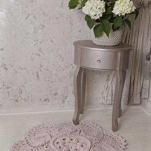 Horgolt szőnyeg púder rózsaszín (fonalkod) - Meska.hu