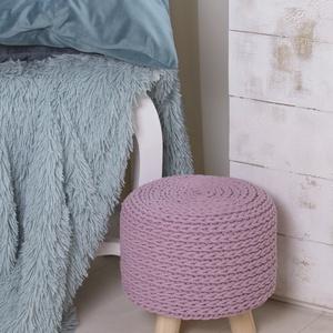 Horgolt ülőke, kisszék háromlábú - rózsaszín, Otthon & lakás, Bútor, Szék, fotel, Lakberendezés, Ez a rózsaszín, háromlábú kisszék nem csak egy lányszoba dekorációs eleme lehet. A lakás bármely pon..., Meska