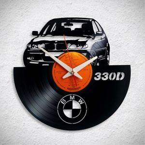 BMW 330D- Bakelit falióra, Otthon & Lakás, Dekoráció, Falióra & óra, Újrahasznosított alapanyagból készült termékek, Meska