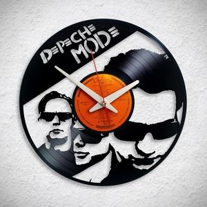 Depeche Mode - Bakelit falióra, Otthon & Lakás, Dekoráció, Falióra & óra, Újrahasznosított alapanyagból készült termékek, A Fonografik bakelitóra nem csak neked fog tetszeni! :)\n\nMinden faliórát csendes minőségi óraszerkez..., Meska