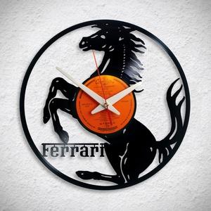 Ferrari logo - Bakelit falióra - Meska.hu
