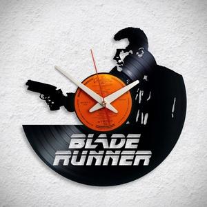 Szárnyas fejvadász - Blade Runner - Bakelit falióra, Otthon & Lakás, Dekoráció, Falióra & óra, Újrahasznosított alapanyagból készült termékek, A Fonografik bakelitóra nem csak neked fog tetszeni! :)\n\nINGYEN POSTA! A sajnálatos helyzetre való t..., Meska