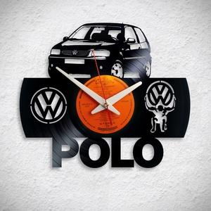 VW Polo - Bakelit falióra, Otthon & Lakás, Dekoráció, Falióra & óra, A Fonografik bakelitóra nem csak neked fog tetszeni! :)  INGYEN POSTA! A sajnálatos helyzetre való t..., Meska