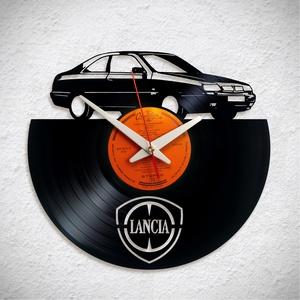 Lancia Kappa Coupe - Bakelit falióra, Otthon & Lakás, Dekoráció, Falióra & óra, Újrahasznosított alapanyagból készült termékek, A Fonografik bakelitóra nem csak neked fog tetszeni! :)\n\nINGYEN POSTA! A sajnálatos helyzetre való t..., Meska