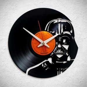 Star Wars - Darth Vader - Bakelit falióra, Otthon & Lakás, Dekoráció, Falióra & óra, A Fonografik bakelitóra nem csak neked fog tetszeni! :)  INGYEN POSTA! A sajnálatos helyzetre való t..., Meska