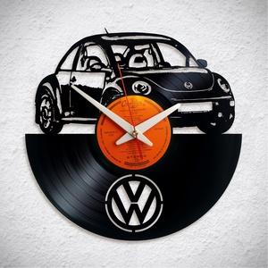 VW New Beetle - Bakelit falióra, Otthon & Lakás, Dekoráció, Falióra & óra, A Fonografik bakelitóra nem csak neked fog tetszeni! :)  INGYEN POSTA! A sajnálatos helyzetre való t..., Meska