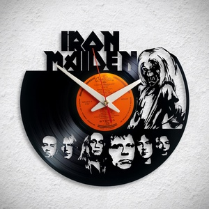 Iron Maiden - Bakelit falióra, Otthon & Lakás, Dekoráció, Falióra & óra, Újrahasznosított alapanyagból készült termékek, Meska