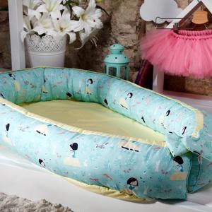 Babafészek - Hófehérke 0-8+ hónapos korig, Babafészek, Lakástextil, Otthon & Lakás, Varrás, A babafészek bárhol kényelmes alvást biztosít a babádnak. Használhatod a kiságyban, a játszószőnyege..., Meska