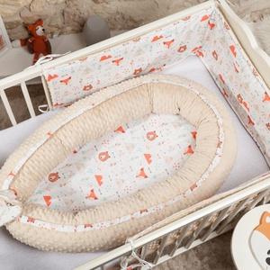 Babafészek Minkyvel- Indián róka 0-8 hónapos korig, Babafészek, Lakástextil, Otthon & Lakás, Varrás, A babafészek bárhol kényelmes alvást biztosít gyermekednek. Használhatod a kiságyban, a játszószőnye..., Meska