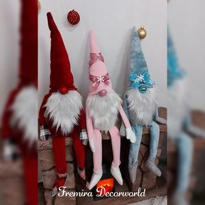 Manó, Karácsony & Mikulás, Karácsonyi dekoráció, Varrás, Kedves manócskáimmal szeretnék jó hangulatot varázsolni otthonába, melyek puha tapintásúak, több fél..., Meska