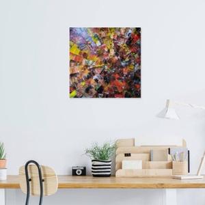 Absztrakt, Művészet, Festmény, Akril, Festészet, Festőkéssel készült absztrakt festmény feszített vászon alapra.\n30*30 cm méretű.\nMivel egyik képemrő..., Meska