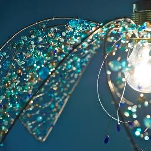 Kékvirág mennyezeti lámpa (MeiaLua) - Meska.hu