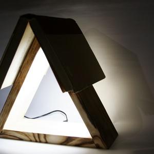 Minimál design éjjeli lámpa fából - otthon & lakás - lámpa - hangulatlámpa - Meska.hu