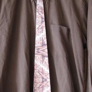 Fa nyakkendő M.C. Escher grafikájával nyomtatva - ruha & divat - férfi ruha - nyakkendő - Meska.hu