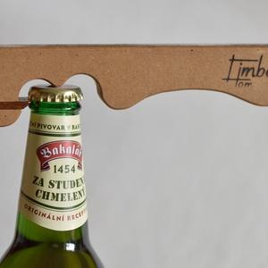 Egyedülálló sörnyitó fából (mdf), Élelmiszer, Ajándék gasztro kosár, Famegmunkálás, Egy különleges termék, immár a sörkedvelőknek! Minden egyes része fából készült, még az a kis pöcök ..., Meska