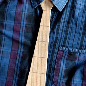 Fa nyakkendő világos színben, Ruha & Divat, Férfi ruha, Ing, Famegmunkálás, Meska