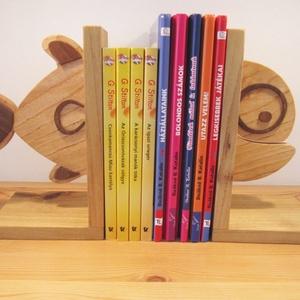 Fa könyvtámasz (hal forma), Otthon & Lakás, Dekoráció, Dísztárgy, Famegmunkálás, Meska