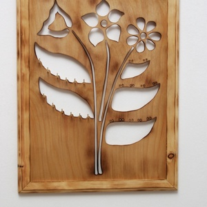 Virágos (fali) ékszertartó láncoknak, akár 40 pár fülbevalónak (FromWood) - Meska.hu
